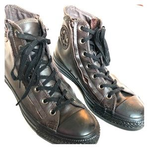 Shoes - Brown Leather Converse
